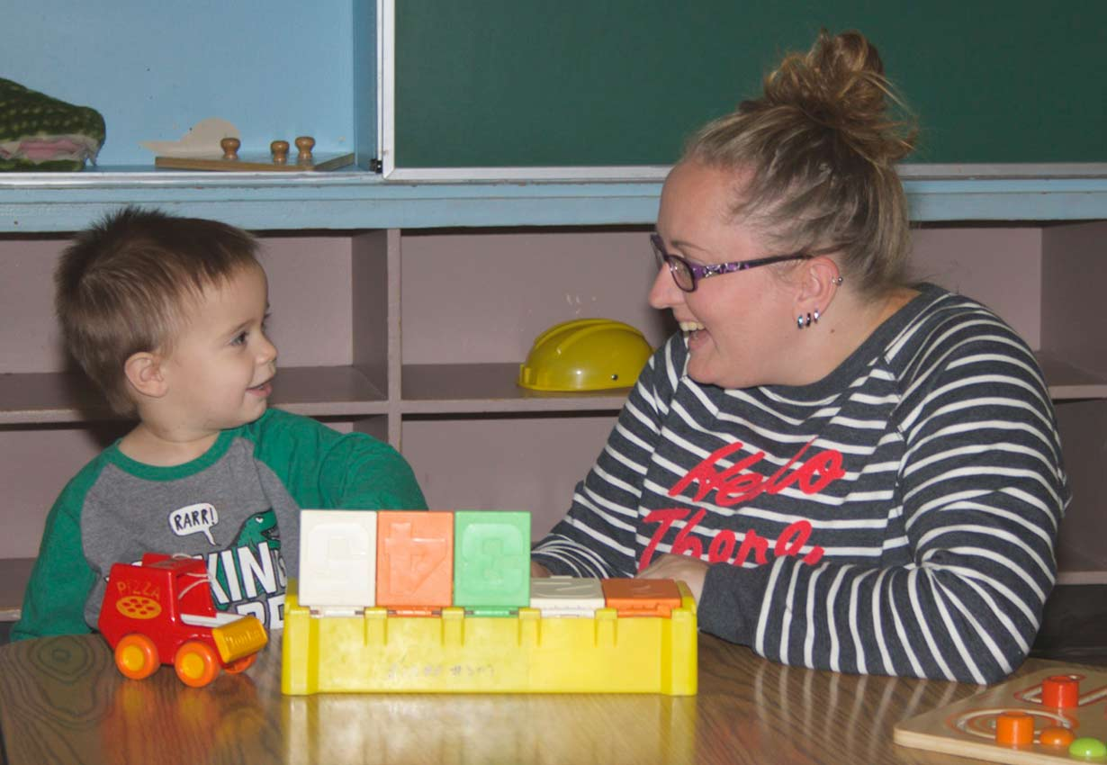 learning with an early childhood educator