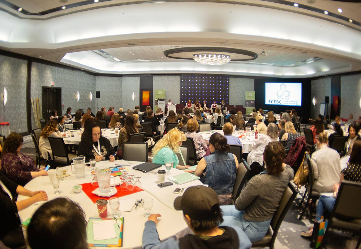Room filled with Early Childhood Educators at ECEBC Conference