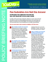Fee Subsidies Are Not The Answer (Oct. 2017)