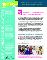 Fact Sheet 6: How The $10aDay Plan Supports Early Childhood Educators
